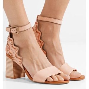 [See By Chloe] NWT Crystal Scalloped Sandals
